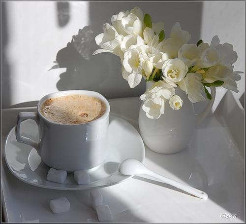 кофейный коктейль весенний