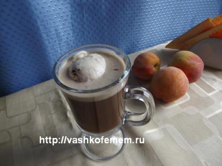 кофейный коктейль холодный моккочино вкусен и бесподобен