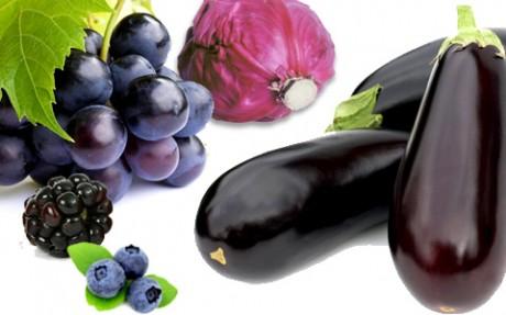 фиолетовые овощи и фрукты