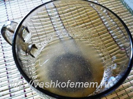 вкусный кофейный крем замачиваем желатин