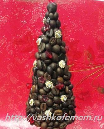 стильная елочка из кофейных зерен 8