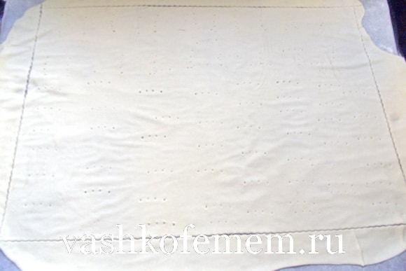 Тоненький корж получился толщиной 2 мм
