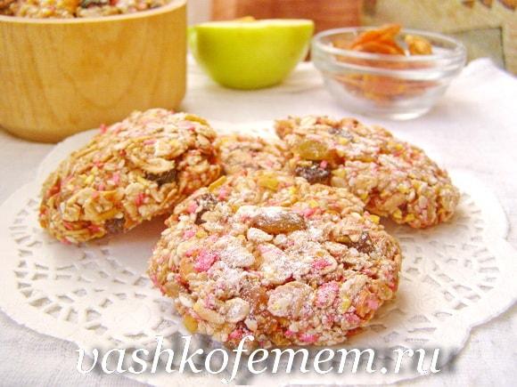 Постное овсяное печенье диетическое