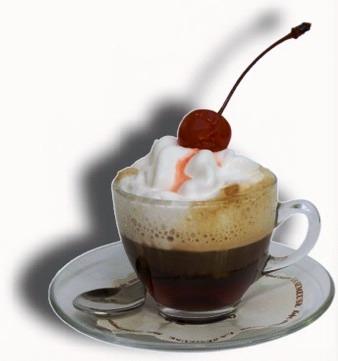 кофе с взбитыми сливками