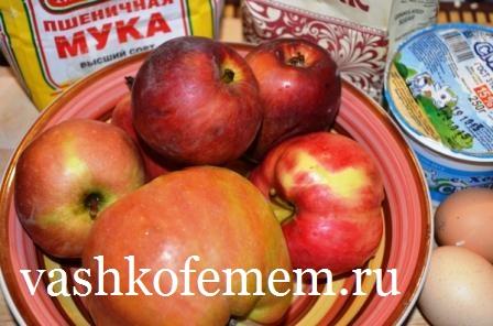 пирог шарлотка с яблоками вдуховке рецепт