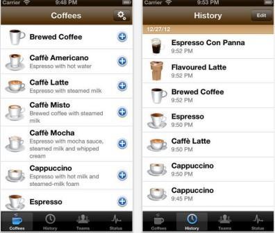 приложение для iPad coffee-addict