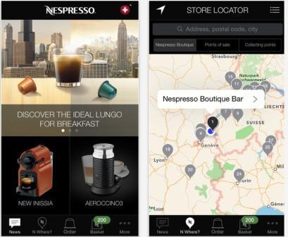 приложение для iPad от  nespresso