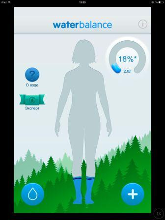 приложение к iPad waterbalance