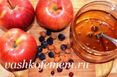 яблоки печеные в духовке с медом