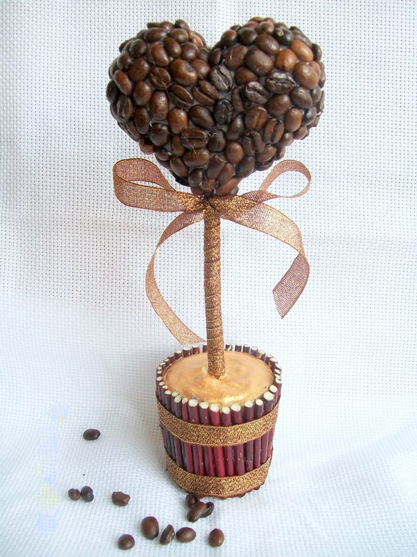 Дерево с кофейными зернами своими руками фото